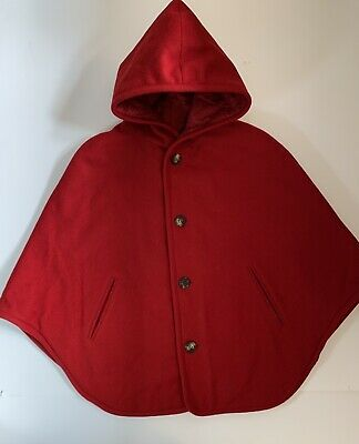A.P.C. Little Red Hooded Cloak Cape Size M