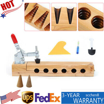 Incense Bullet Ground Cones Acrylic Mould Backflow scent mold DIY making Tool