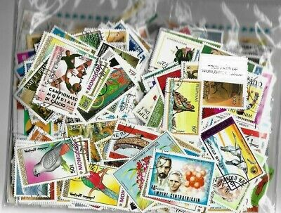 Collection lot of 100+ off paper Random Worldwide Large Pictorial Luxury Stamps