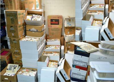 1000000's Collection lot of 200+ pcs unpicked off paper Worldwide Stamps World