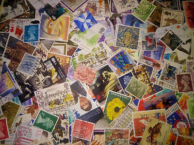 1000000's Collection lot of 200++ unpicked off paper Great Britain Stamps GB UK