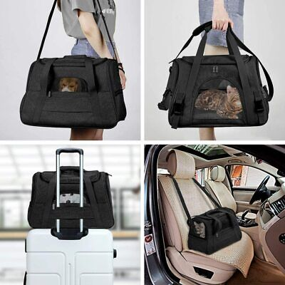 Dog Carrier Soft Sided Airline Comfort Approved Pet Travel Backpack Mesh tote