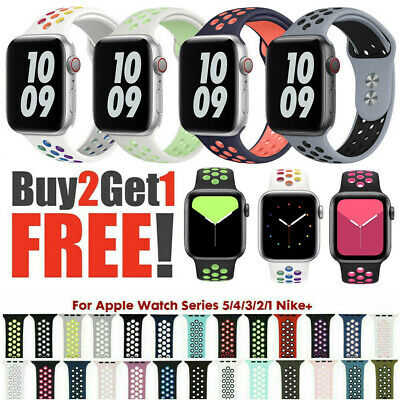 40/44mm 38/42mm Silicone Sport iWatch Band Strap for Apple Watch Series 6 SE 5 4