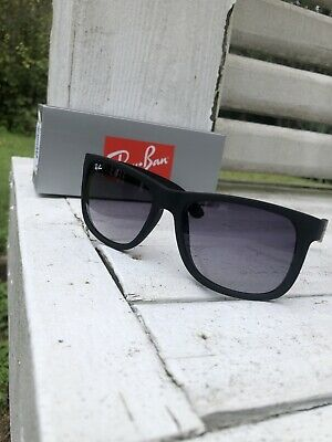 RAY BAN RB4165 601 8G All Black Rubber 54mm Men's Sunglasses Fast Ship