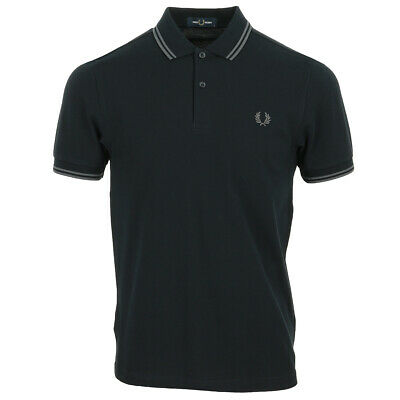 Vêtement Polos Fred Perry homme Twin Tipped Shirt taille Vert Coton