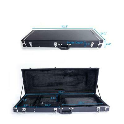 ST High Grade Electric Guitar Square Hard Case Microgroove Flat Portable Shell