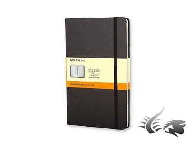 Moleskine Classic Hard cover Notebook, Large, Ruled, Black, 240 pages, QP060