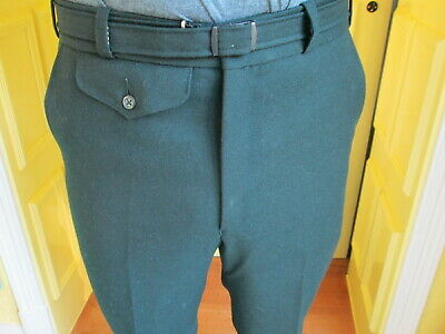 1970s mens dark green quality trousers