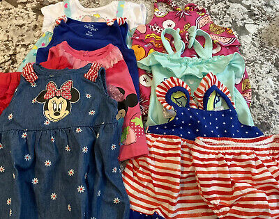 11 Pc BABY GIRL CLOTHING LOT SIZE 6-9 MONTHS