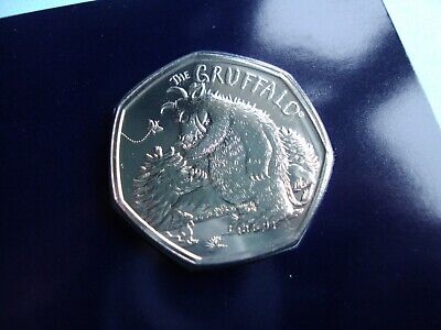 Brilliant Uncirculated 2019 UK Gruffalo and the Mouse. 50 pence coin. NIFC