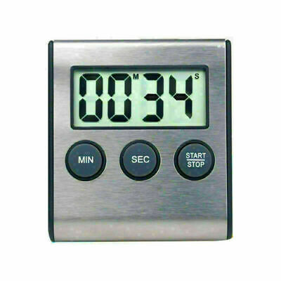 Large Clear LCD Digital Timer Kitchen Cooking Magnetic Loud Alarm Count Down Up