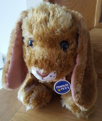 Build a Bear promise pets brown rabbit soft plush toy cuddly teddy