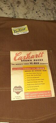 Vintage 1930-1940's era Carhartt bibs NEW old stock  very rare hard to find!!!!