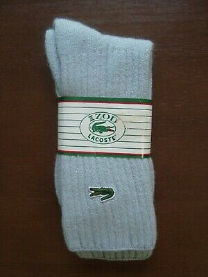 Vintage IZOD LACOSTE Alligator GRAY SOCKS Mens Size 10-13 NOS