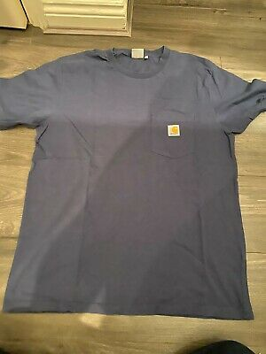 Carhartt Navy Blue Pocket Logo T-Shirt (Size XL)