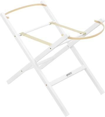Clair De Lune FOLDING MOSES BASKET STAND WHITE Newborn Baby Nursery