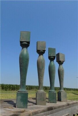 4 Balusters Green Wood Architectural Salvage Spindles Porch Post House Trim A15,
