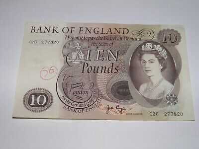Bank of England -  Old Large  £10 Ten pound note. Page. C26 277820