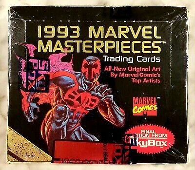 1993 Skybox Marvel Masterpieces Factory Sealed Unopened Box 36 Packs