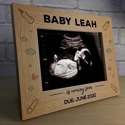 Personalised New Baby Scan Photo Frame Plaque Baby Shower Gift Grandparent Mum