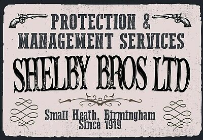 Peaky Blinders Protection Services retro vintage style metal sign man cave 5