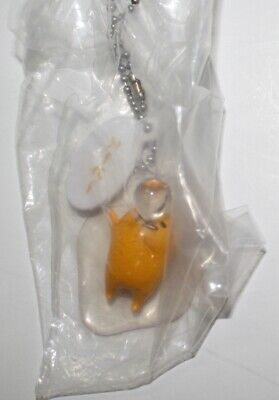 Gudetama with Flatware on Stomach Spoon Mascot Key Chain NEW