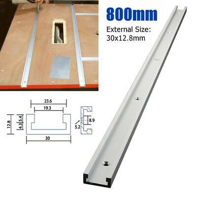 11.8-23.6 in Aluminium T-Track T-Slot Miter Jig Fixture Tool Woodworker Router