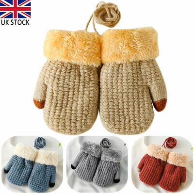 BABY KNITTED MITTENS GLOVES  ASSORTED COLOURS 0-12MTH