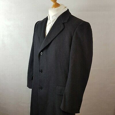 Austin Reed Mens Luxurious 100 Cashmere Overcoat Dark Grey Size Large Vintage 120 00 Picclick Uk