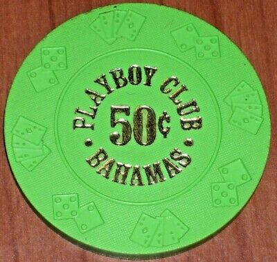 .50 Cent Fractional Gaming Chip From The Playboy Club Casino In The Bahamas