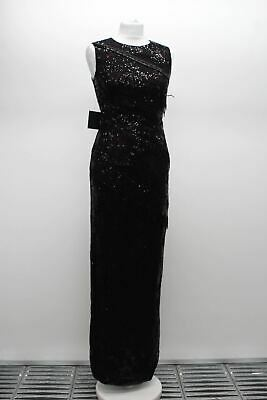 Phase Eight Gabby Embelli Maxi robe longue noir//or Rose taille UK12 RRP325