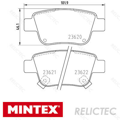 REAL IMAGE OF PART MINTEX FRONT AXLE BRAKE PADS FOR TOYOTA HILUX MDB2718