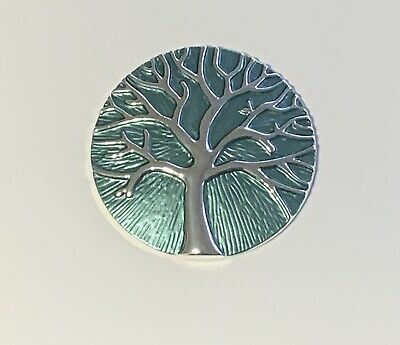 MINI Magnetic Brooch Scarf Metal Pin Clip Blue /& Silver Tree Of Life Design
