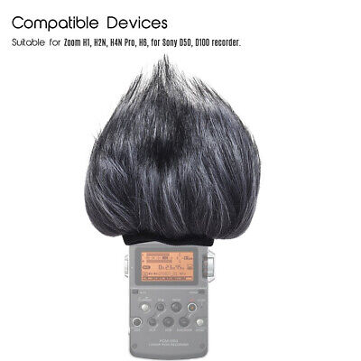 Windscreen Muff for Zoom H2n//H4n Handy Recorders Zoom Mic Dead Cat Fur Windscreen Wind Screen for H2n H4n by YOUSHARES