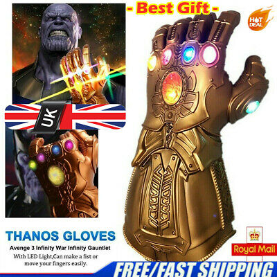 Details about  /2020 Avengers Infinity War Infinity Gauntlet LED Light Thanos Gloves Cosplay UK