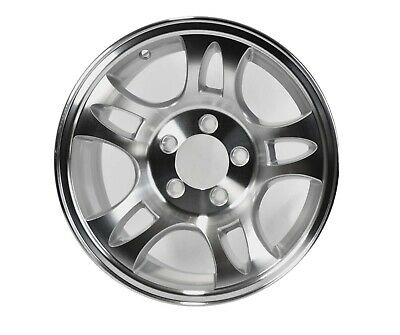 New 15 Inch 5 on 4.5 Silver and Machined 12 Spoke Aluminum Trailer Wheel Rim T15 56545SM
