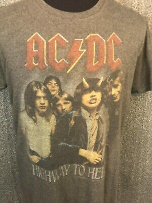 AC DC Highway to Hell 2010 Men's Short Sleeve Graphic T-shirt L EUC