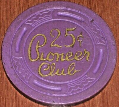 $.25 Fractional 2Nd Edition Gaming Chip From The Pioneer Club Casino