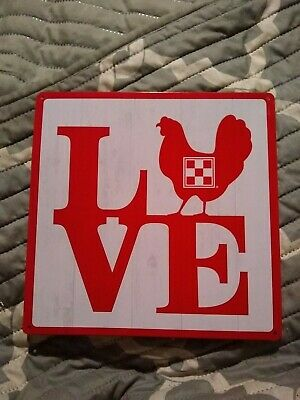 3 PC Lot New Purina Feed Chicken Coop Metal Sign Breakfast Cluck On Spoiled Hens