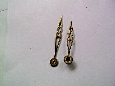 Perivale Pair Of Brass Hands From An Old  Mantle Clock  Ref Mon 83