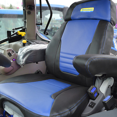 new holland tractor seat cover tm  t7070  Sears air seat navy with logo