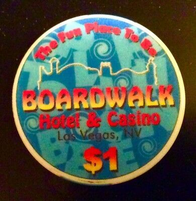 BOARDWALK Hotel & Casino $1 POKER CHIP Token Las Vegas NV OBS Nevada Gambling