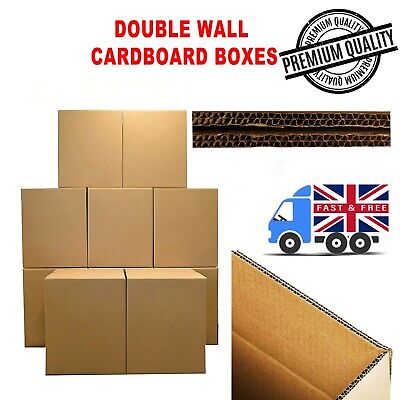 """Removal Moving Storage 60 X-LARGE DOUBLE WALL Cardboard Stock Boxes 30x18x12/"""""""