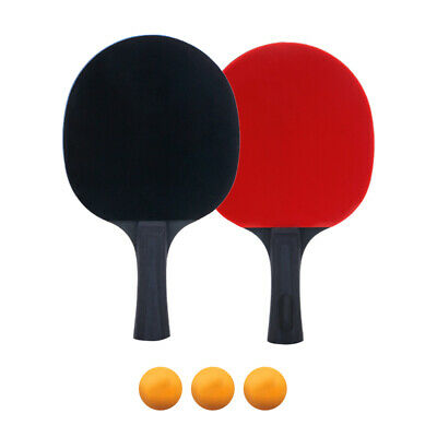 2pcs 5 Star Red Carbon Fiber Table Tennis Racket Double Pimples-in Pingpong Rack