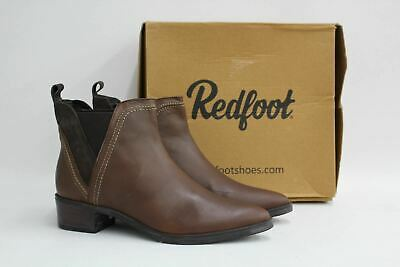 REDFOOT Ladies Brown Leather /& Suede Fur Lined Ankle Boots EU40 US9 UK7 NEW