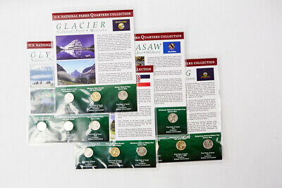 2011 P, D, GP Set of 5 First Day of Issue National Parks Quarters Collection