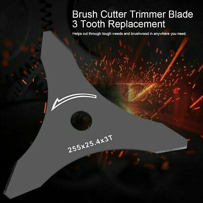 Airecut 3 Tooth Metal Blade 250mm x 25.4mm /& 20mm x 3mm Brushcutter /& Strimmer