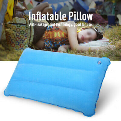Portable Inflatable Lightweight Airplane Pillow Cushion Travel Hiking Camping US