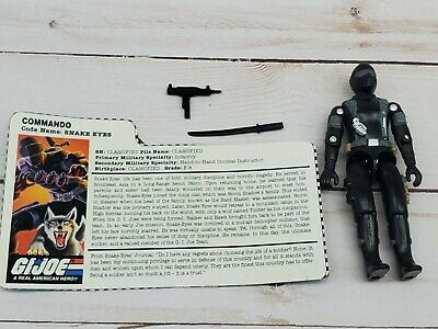 GI JOE SNAKE EYES Vintage Action Figure Commando Team COMPLETE C9 v8 1997