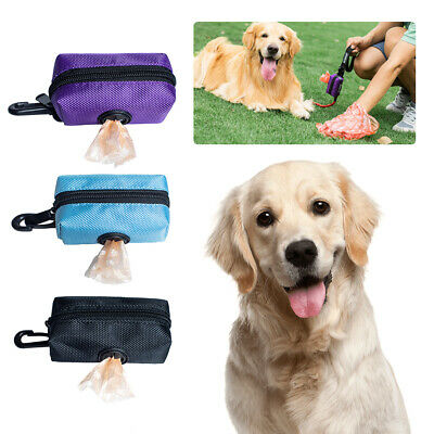 Pet Dispenser Waste Dog Poo Puppy Pick-Up Bag Travel Poop Bags Holder Hook Pouch